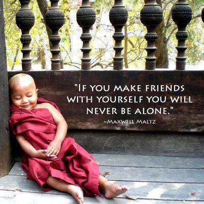 Wisdom card image: friends with yourself